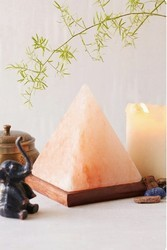 Himalayan rock salt lamp pyramind