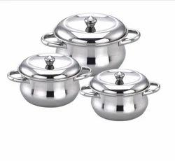 Stainlesss Steel Pot Set, Grade: 202