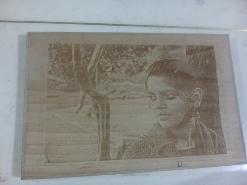 Photo Engraving in Wood