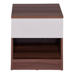 Mdf Anne Night Stand In Cream White Maple Color