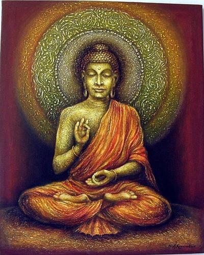 gautam buddha in meditation paintings revankar art mumbai id