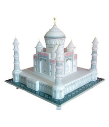Beautiful Marble Taj Mahal Model - White