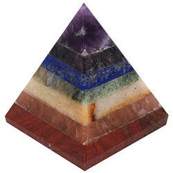 Seven Chakra Reiki Gem Pyramid