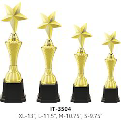 Golden Plated Star Trophy