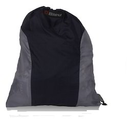 Black & Grey Backpack String Bag