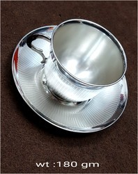 Polished Pure Silver Cup And Soccer