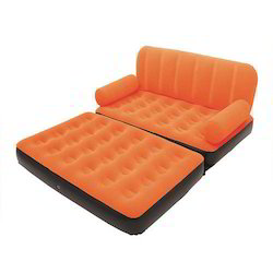 Inflatable Velvet Sofa Air Bed