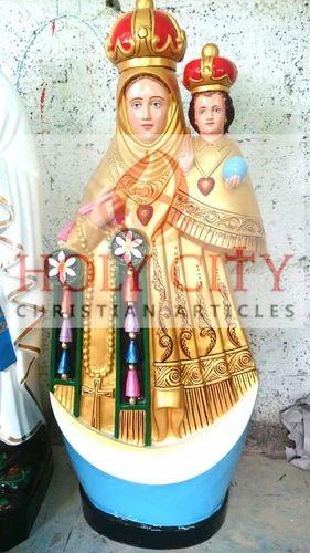 fiberglass multicolor velankanni matha christian fibreglass statue