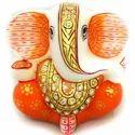 White Marble Ganesha Laddu MB152