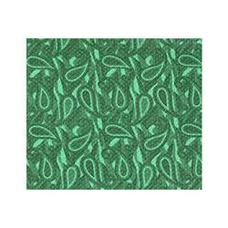 Green Leaf Printed Leather