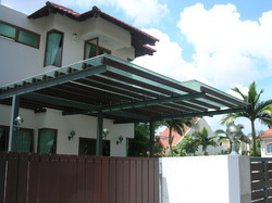 Wooden Type Glass Canopy