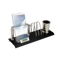 Pen Stand with Mobile and Memo or Card Holder
