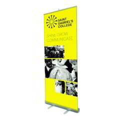 Vinyl Roll Up Advertising Standee, Size: 6 Feet By 2.5 Feet
