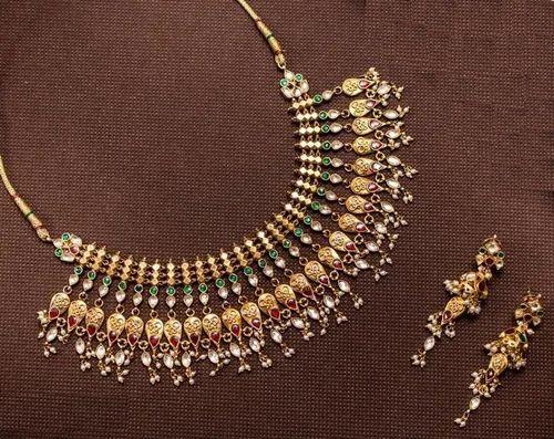 cbbd0bfe063eb Kundan And Jadtar Jwellery - Multi Jadtar Bikaneri Necklace Set ...