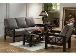 Stylish Wooden Sofa Set With Foam Cushion
