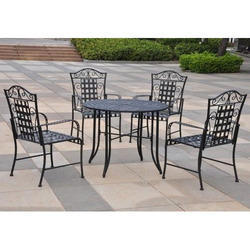 Wrought Iron Table Chair Set