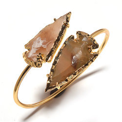 Jasper Arrowhead Bangle