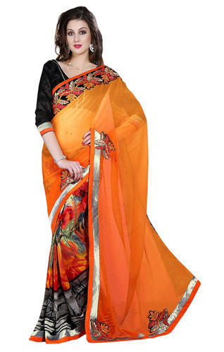 5bd9ff9970df9 Chiffon Reniyal Saree at Rs 750