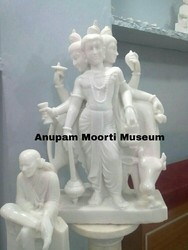 Guru Dattatreya marble statue