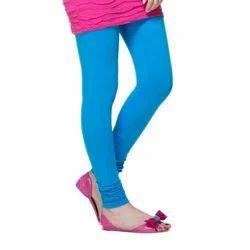 Ladies Sky Blue Plain Leggings
