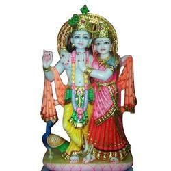 Decorative Marble Radha Krishna Statue