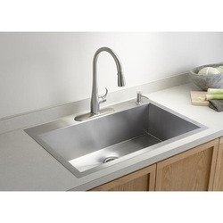 Wall Mounted Stainless Steel Kitchen Sinks, Shape: Rectangular, For Industrial