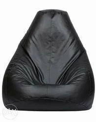 Plain Black Bean Bag