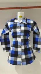 3 Colours Cotton Ladies Shirt