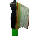 Plain Chanderi Suit with Zari Border