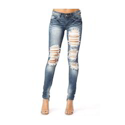 Ladies Jeans - Ripped Skinny Jeans Manufacturer from New Delhi