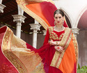 Synthetic Satin Chiffon Saree