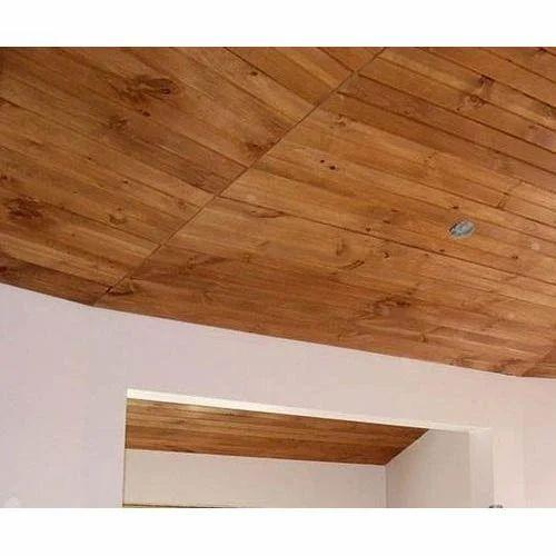 Wood Plank Ceiling Work