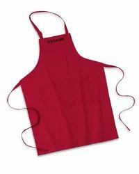 Red Cotton Kitchen Apron