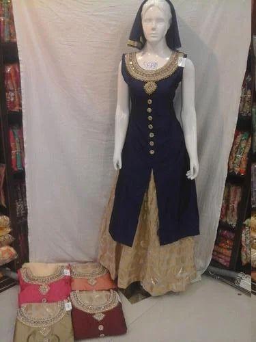 64274dcd70484 Skirt Bhagalpuri Silk Dress, Rs 2295 /piece, Mahalakshmi Textiles ...