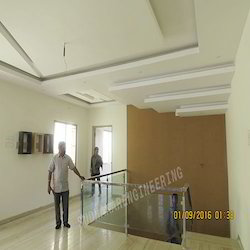 Office Floor SS Railing With Glass
