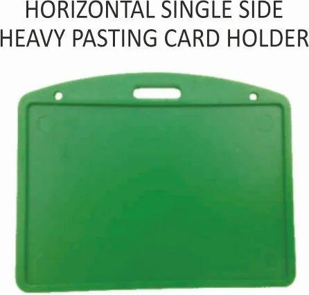 Horizontal Single Side Heavy Pasting Card Holder
