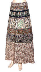 Bagru Print Cotton Wrap Skirt
