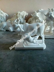 Marble Calf Statue