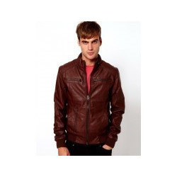 RN 00AX Men Motor Cycle Leather Jacket