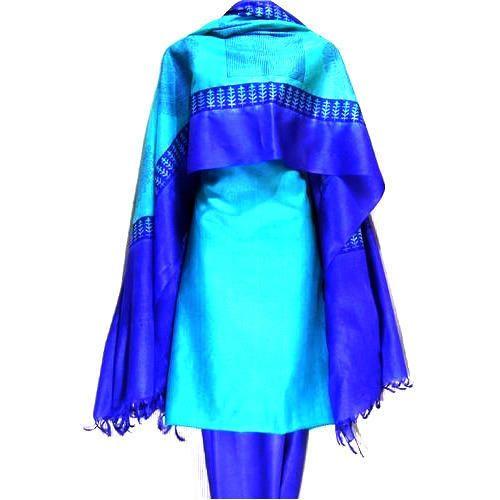 Unstitched Tussar Silk Salwar Kameez Material, Salwar Kameez ...