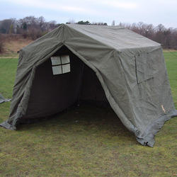 Canvas And HDPE Olive Green Army Tent