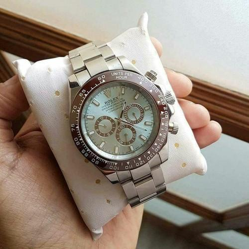 Sky Blue Rolex Watch For Men Premium Quality Fully Automatic