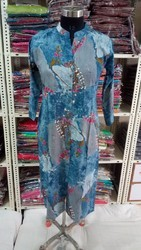 Casual Wear Printed Reyon Kurties