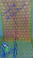 Garwhal Silk Allover Leaf Brocade Saree