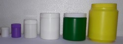 Cylindrical Powder Packaging HDPE Jar