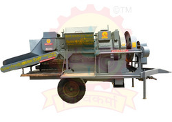 Taper Feeding Multicrop Three Fan Cutter Thresher