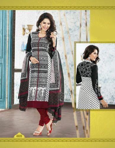 77ec9eb53 Black Cotton Unstitched Salwar Suit at Rs 395  piece