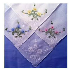 Simple Embroidered Handkerchief