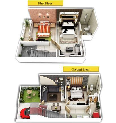 Duplex 3d View Duplex House Plans 3d View Manufacturer