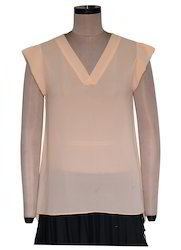 Amisi Solid V-Neck Top EGT061A